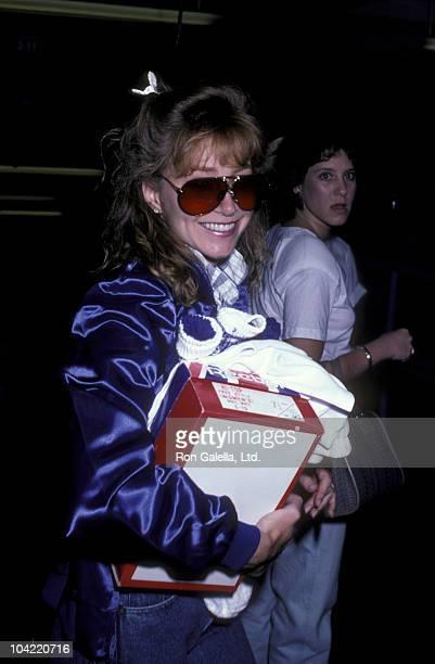 Actress Lisa Eilbacher attends Hollywood AllStars Celebrity Baseball Game on August 23 1986 at Dodger Stadium in Los Angeles California