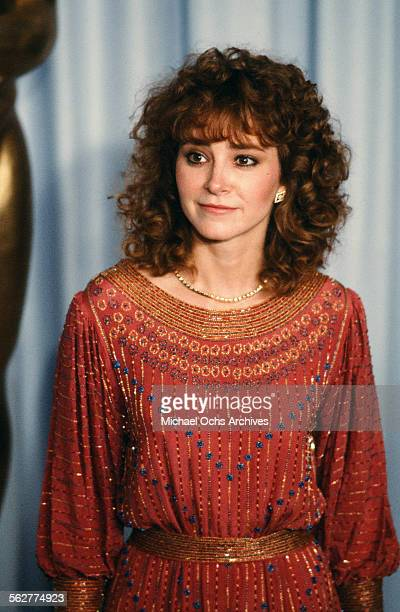 Actress Lisa Eilbacher pose backstage during the 55th Academy Awards at Dorothy Chandler Pavilion Los Angeles California