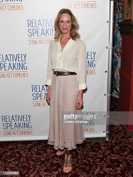 """Actress Lisa Emery attends a meet & greet with the cast of Broadway's """"Relatively Speaking"""" at Sardi's on September 9, 2011 in New York City."""