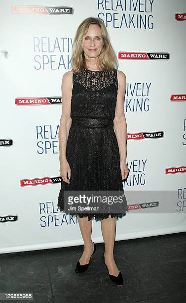 Actress Lisa Emery attends the Relatively Speaking opening night after party at the Brooks Atkinson Theatre on October 20 2011 in New York City
