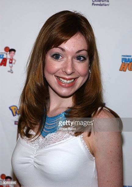 Actress Lisa Foiles attends the Frankie Muniz HoopLA celebrity charity basketball game presented by Pokemon Trading Card Games on March 14 2004 in...