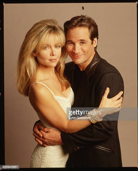 Actress Lisa Hartman Poses With Her Husband, Country Music