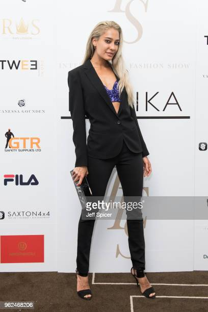 Actress Lisa Haydon attends the inaugural International Fashion Show at Rosewood Hotel on May 25 2018 in London England