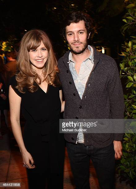 Actress Lisa Joyce and actor Adam Brody attend the after party for the premiere of DirecTV's 'Billy Billie' at The Lot at on February 25 2015 in Los...