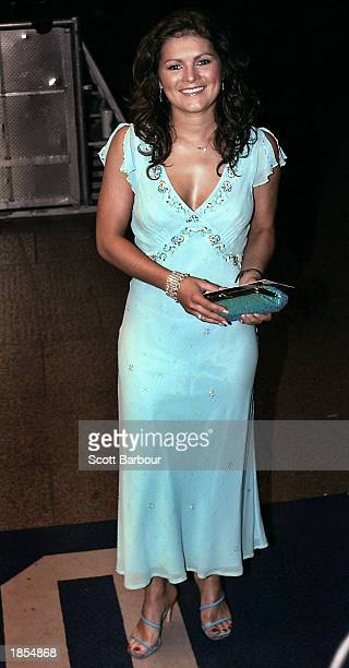Actress Lisa Kay arrives at the premiere of Evelyn March 17 2003 in London United Kingdom