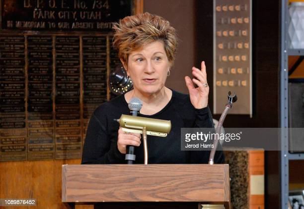 Actress Lisa Kron speaks during the Can Art Save Democracy Panel during the 2019 Sundance Film Festival at Filmmaker Lodge on January 26 2019 in Park...