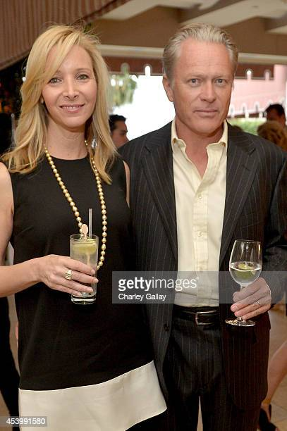"""Actress Lisa Kudrow and advertising executive Michel Stern attend the Vanity Fair and Maybelline New York toast of the Emmy-Nominated """"VEEP"""" on..."""