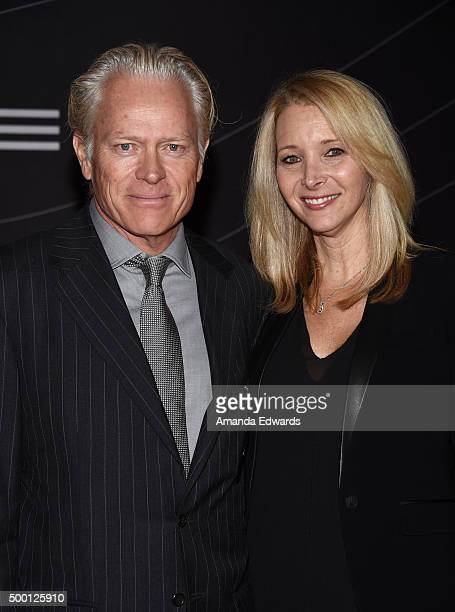 Actress Lisa Kudrow and her husband Michel Stern arrive at the Petersen Automotive Museum Grand Re-Opening at the Petersen Automotive Museum on...