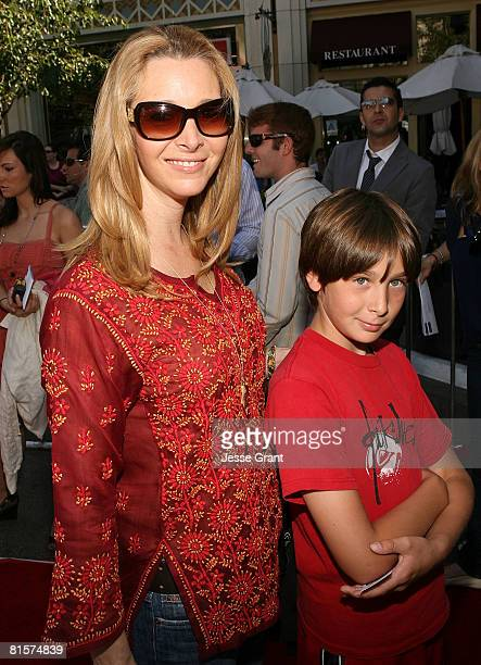 Actress Lisa Kudrow and her son Julian attend the premiere of Kit Kittredge An American Girl at The Grove on June 14 2008 in Los Angeles California