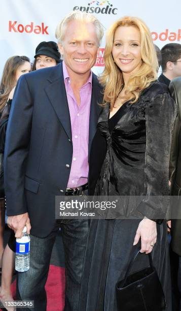 Actress Lisa Kudrow and husband Michel Stern arrive at the First Annual Streamy Awards at the Wadsworth Theatre on March 28 2009 in Los Angeles...