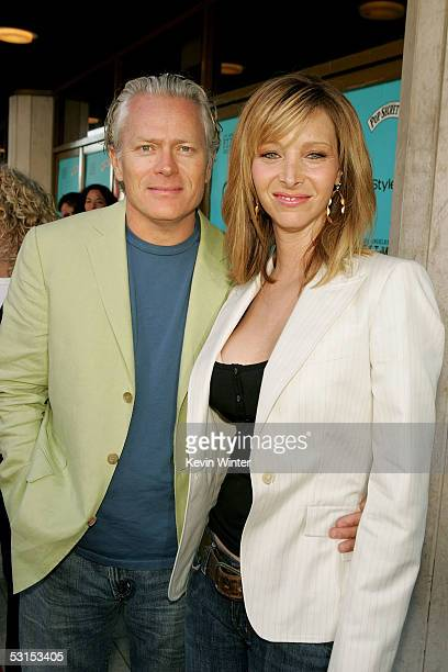 """Actress Lisa Kudrow and husband Michel Stern arrive at the Los Angeles Film Festival Premiere of """"Happy Endings"""" at the Mann's National Theatre on..."""