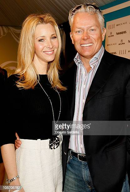 Actress Lisa Kudrow and husband Michel Stern at the ELLE Green Lounge at Film Independent's 2008 Spirit Awards at the Santa Monica Pier on February...