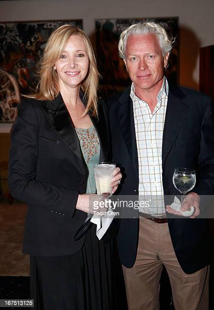 Actress Lisa Kudrow and husband Michel Stern attend PS ARTS Presents LA Modernism Show Opening Night at The Barker Hanger on April 25 2013 in Santa...
