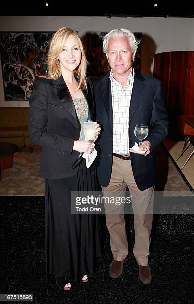 Actress Lisa Kudrow and husband Michel Stern attend P.S. ARTS Presents: LA Modernism Show Opening Night at The Barker Hanger on April 25, 2013 in...