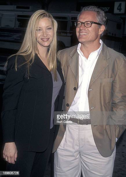 Actress Lisa Kudrow and husband Michel Stern attend The Opposite Sex Santa Monica Premiere on May 19 1998 at the Laemmle Monica 4plex in Santa Monica...