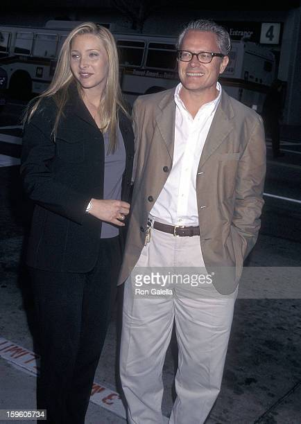 """Actress Lisa Kudrow and husband Michel Stern attend """"The Opposite Sex"""" Santa Monica Premiere on May 19, 1998 at the Laemmle Monica 4-plex in Santa..."""