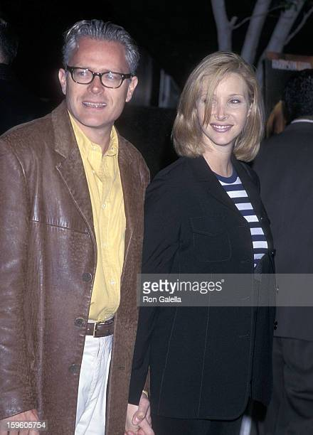 """Actress Lisa Kudrow and husband Michel Stern attend the """"Six Days Seven Nights"""" Westwood Premiere on June 8, 1998 at the Avco Center Cinemas in..."""