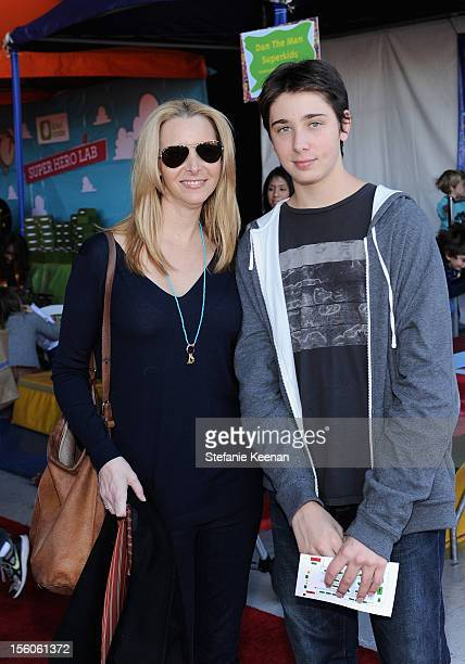 Actress Lisa Kudrow and Julian Murray Stern attend the creative arts fair and family day Express Yourself supporting PS ARTS at Barker Hangar on...