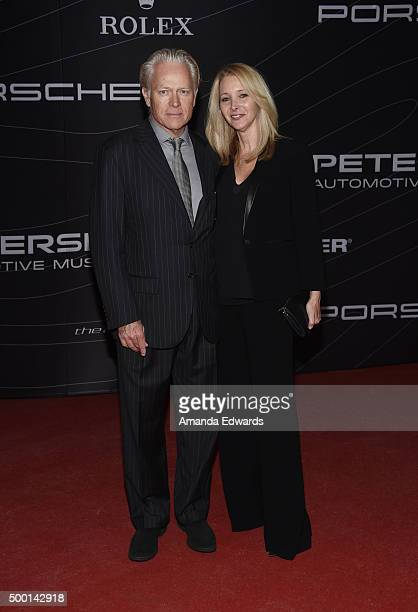 Actress Lisa Kudrow and Michel Stern arrive at the Petersen Automotive Museum Grand ReOpening at the Petersen Automotive Museum on December 5 2015 in...