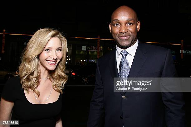 Actress Lisa Kudrow and producer Broderick Johnson arrive at the premiere of Warner Bros' 'PS I Love You' held at Grauman's Chinese Theater on...