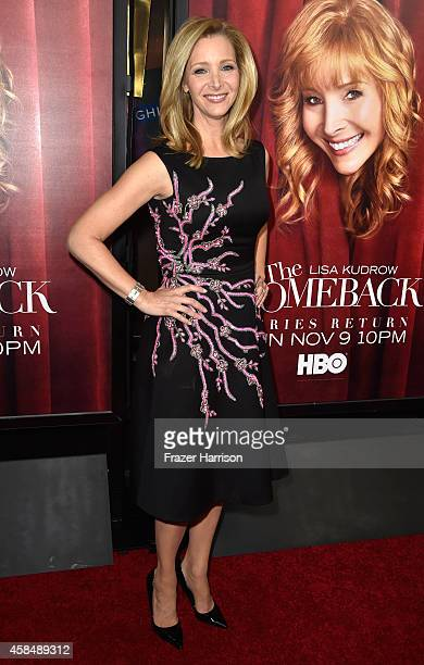 Actress Lisa Kudrow arrives at the premiere of HBO's The Comeback at the El Capitan Theatre on November 5 2014 in Hollywood California