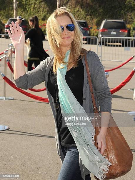 Actress Lisa Kudrow arrives at the PS ARTS Express Yourself 2014 at The Barker Hanger on November 16 2014 in Santa Monica California
