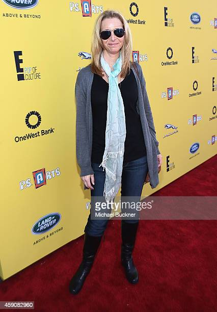 Actress Lisa Kudrow attends PS ARTS presents Express Yourself 2014 with sponsors OneWest Bank and Jaguar Land Rover at Barker Hangar on November 16...