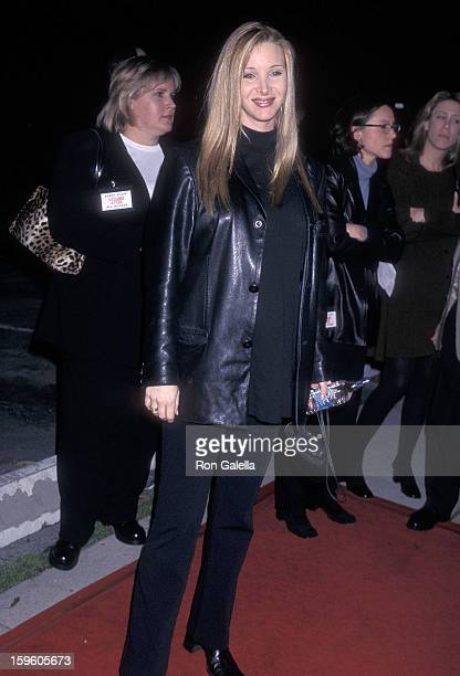 Actress Lisa Kudrow attends the 'Kissing a Fool' Westwood Premiere on February 18 1998 at the Mann Plaza Theatre in Westwood California