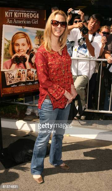 Actress Lisa Kudrow attends the premiere of Kit Kittredge An American Girl at The Grove on June 14 2008 in Los Angeles California