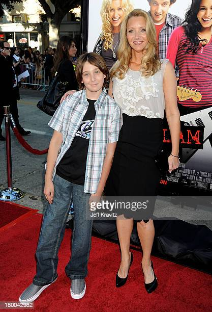 Actress Lisa Kudrow , husband Michel Stern and son Julian Stern arrive at Summit Entertainment's premiere of BandSlam held at Mann Village Theatre on...