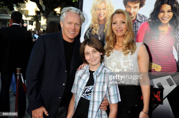 Actress Lisa Kudrow husband Michel Stern and son Julian Stern arrive at Summit Entertainment's premiere of BandSlam held at Mann Village Theatre on...