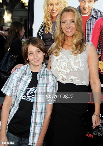 """Actress Lisa Kudrow , husband Michel Stern and son Julian Stern arrive at Summit Entertainment's premiere of """"BandSlam"""" held at Mann Village Theatre..."""