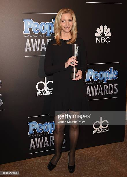 Actress Lisa Kudrow winner of Television Performance of the Year Actress poses in the press room during the PEOPLE Magazine Awards at The Beverly...