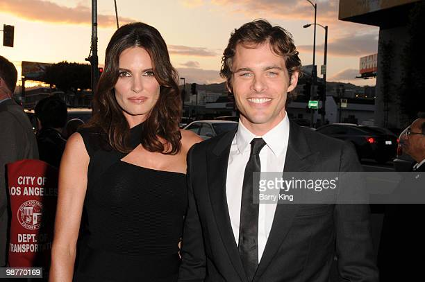 Actress Lisa Linde and actor James Marsden arrive at the Los Angeles Premiere Death At A Funeral at the ArcLight Cinemas Cinerama Dome on April 12...