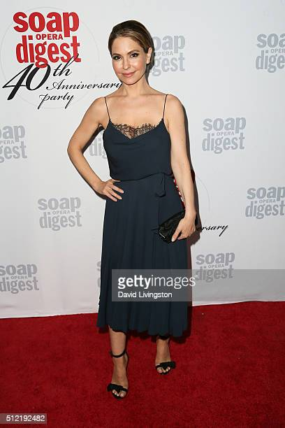 Actress Lisa LoCicero arrives at the 40th Anniversary of the Soap Opera Digest at The Argyle on February 24 2016 in Hollywood California
