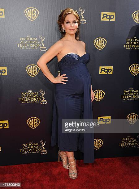 Actress Lisa LoCicero arrives at the 42nd Annual Daytime Emmy Awards at Warner Bros Studios on April 26 2015 in Burbank California