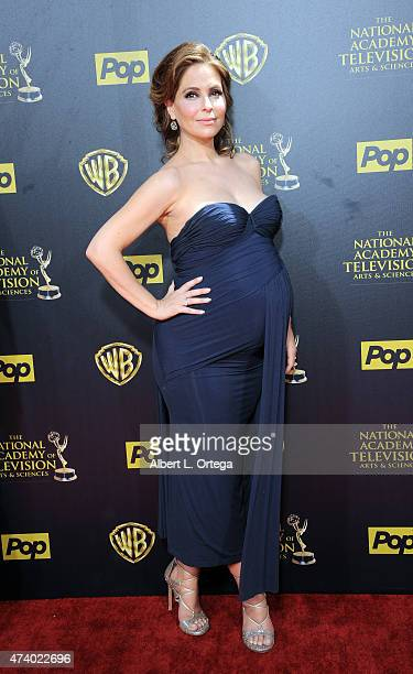 Actress Lisa LoCicero arrives for The 42nd Annual Daytime Emmy Awards held at Warner Bros Studios on April 26 2015 in Burbank California