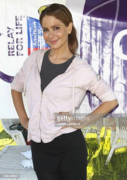 Actress Lisa LoCicero attends the Relay For Life Hollywood with 'General Hospital' stars Nancy Lee Grahn and Lisa LoCicero held at the Helen...
