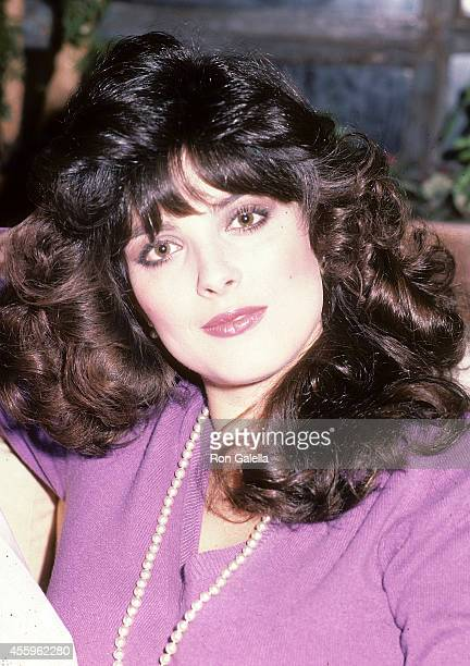 Actress Lisa Loring on January 31 1984 exclusive photo session at Lisa Loring and Doug Stevenson's apartment in New York City