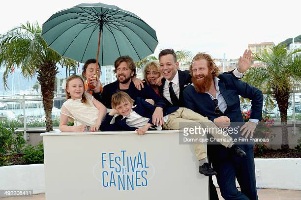 Actress Lisa Loven Kongsli Clara Wettergren director Ruben Ostlund actors Vincent Wettergren Johannes Bah Kuhnke and Kristofer Hivju attend the...