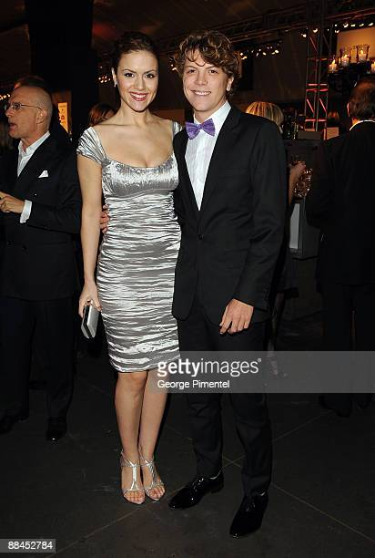Actress Lisa Marcos and actor Michael Seater attend the Canadian Film Centre 2009 Gala and Auction at the Kool Haus on February 11, 2009 in Toronto,...