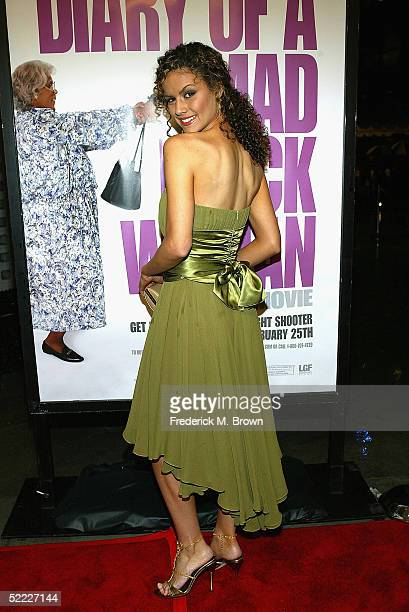 "Actress Lisa Marcos attends film premiere of ""Diary of a Mad Black Woman"" at the Arclight Cinerama Dome on February 21, 2005 in Hollywood, California."