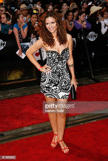 Actress Lisa Marcos attends the 2008 Muchmusic Video Awards held at Much world HQ at the City TV building on June 15, 2008 in Toronto, Canada.