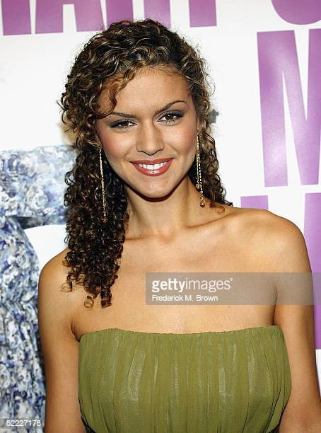 "Actress Lisa Marcos attends the film premiere of ""Diary of a Mad Black Woman"" at the Arclight Cinerama Dome on February 21, 2005 in Hollywood,..."