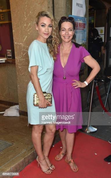 Actress Lisa Maria Potthoff and Aglaia Szyszkowitz during the 'Maria Mafiosi' Premiere at Sendlinger Tor Filmpalast on May 29 2017 in Munich Germany