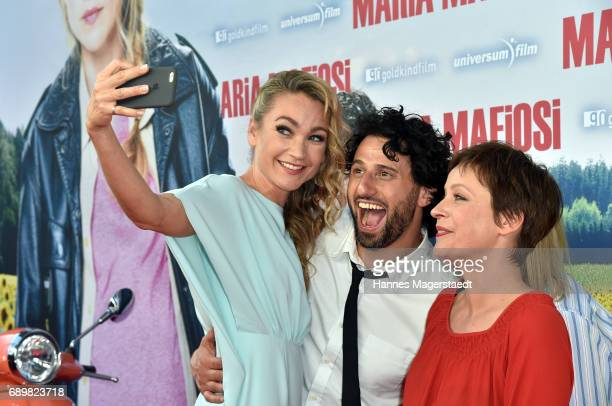 Actress Lisa Maria Potthoff Serkan Kaya and Jule Ronstedt during the 'Maria Mafiosi' Premiere at Sendlinger Tor Filmpalast on May 29 2017 in Munich...