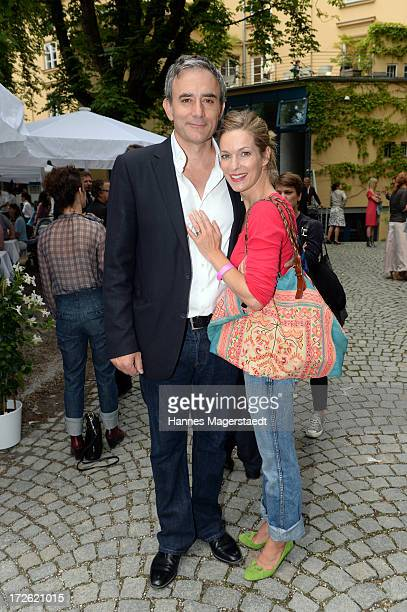 Actress Lisa Martinek and her husband Giulio Ricciarelli attend the FFF Reception during the Munich Film Festival 2013 at the Praterinsel on July 4...