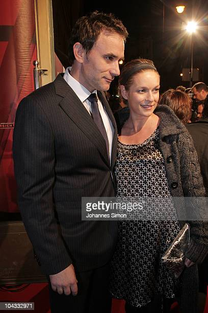 Actress Lisa Martinek and husband Giulio Ricciarelli attend the Premiere of the movie 'Jud Suess Film ohne Gewissen' on September 21 2010 in Munich...
