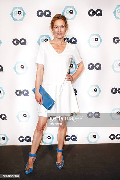 Actress Lisa Martinek wearing a dress by Hugo Boss and a handbag by Prada attends the GQ Care Award 2016 at The Grand on May 11 2016 in Berlin Germany