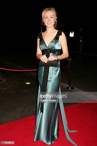 Actress Lisa McCune attends Channel Seven's TV Turns 50 The Event That Stopped a Nation at Star City on September 17 2006 in Sydney Australia